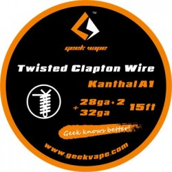 WIRE CLAPTON kanthal wire A1 28GA*2(TWISTED)+32GA - GEEK VAPE