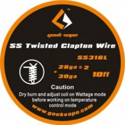WIRE CLAPTON SS316 28GA*2(TWISTED)+30GA - GEEK VAPE