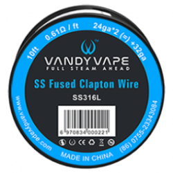 Resistive wire SS Fused Clapton wire 24*2 + 32 Ga Vandy Vape 3m