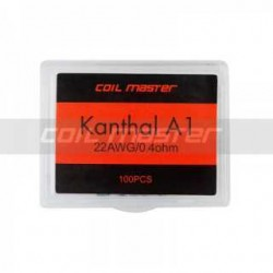 Coil ready COIL MASTER - kanthal wire A1 from 0.4 ohm - 100 pcs